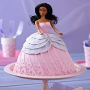 Doll-in-Pink-Dress-Cake